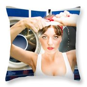 House Work Woman Throw Pillow