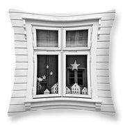 Houses And Windows Throw Pillow