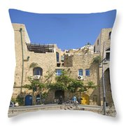 Houses In Jaffa Tel Aviv Israel Throw Pillow