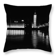 Houses Of Parliament And Big Ben Throw Pillow