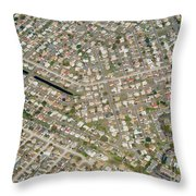 Housing Development, Florida Throw Pillow
