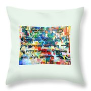How Cherished Is Israel By G-d Throw Pillow by David Baruch Wolk