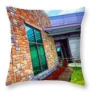 Howard County Library - Miller Branch Throw Pillow
