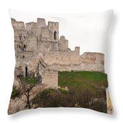 Hrad Beckov - Castle Throw Pillow