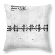 Hudson River: Chain, C1778 Throw Pillow