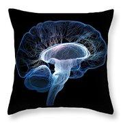 Human Brain Complexity Throw Pillow