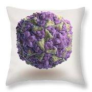 Human Rhinovirus Throw Pillow