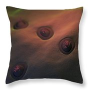 Human Taste Buds Throw Pillow