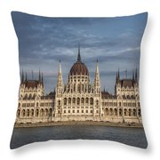 Hungarian Parliament Building Afternoon Throw Pillow