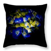 Blue Hydrangea, Corona Del Mar California Throw Pillow