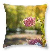 Hydrangeas In The Autumn Sun Throw Pillow