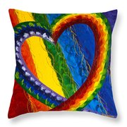 I Am Love Throw Pillow by Judy M Watts-Rohanna