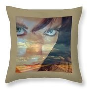 I Am The Highway Throw Pillow