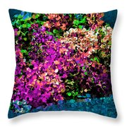 I Love Flowers Throw Pillow