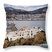 Ibiza Town Throw Pillow