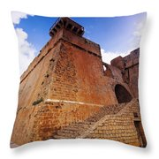 Ibiza Town Walls Throw Pillow