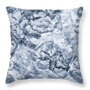 Ice Background Throw Pillow