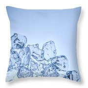 Ice Background With Copyspace Throw Pillow