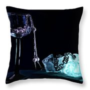 Ice Throw Pillow by Camille Lopez