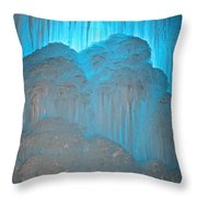 Ice Rising Throw Pillow