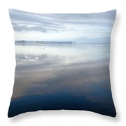 Iceberg And Polinya In The Ross Sea  Throw Pillow