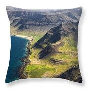 Iceland Plateau Mountains Throw Pillow