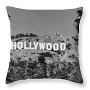 Iconic Hollywood Sign Throw Pillow