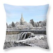 Idaho Falls Temple Throw Pillow