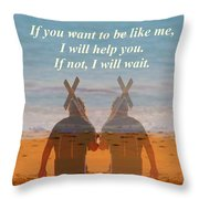 If You Want To Be Like Me Throw Pillow