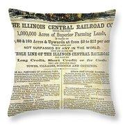 Illinois Railroad Company Throw Pillow