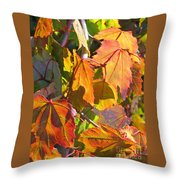 Illumining Autumn Throw Pillow
