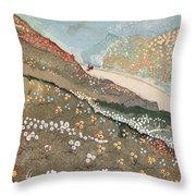 Illustration For Kim By Rudyard Kipling Throw Pillow