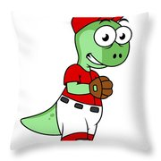 Illustration Of A Pachycephalosaurus Throw Pillow by Stocktrek Images