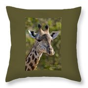 I'm All Ears - Giraffe Throw Pillow