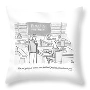 I'm Not Going To Waste This Adderall Paying Throw Pillow