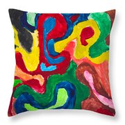 Image Of Multicolored Painting Throw Pillow