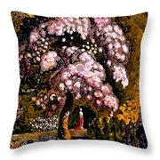 In A Shoreham Garden Throw Pillow