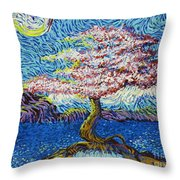 In The Flow Of Life Throw Pillow