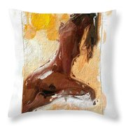 In The Heat Of The Sun Throw Pillow