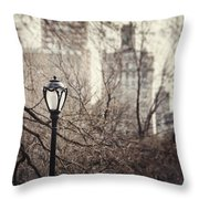 In The Shadow Of The Upper East Side  Throw Pillow