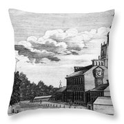 Independence Hall, 1778 Throw Pillow