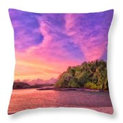 Indian Ocean Sunset Throw Pillow