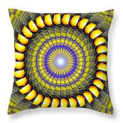 Infinity Gateway Nine Kaleidoscope Throw Pillow