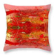 Golden Abstract Painting  Throw Pillow