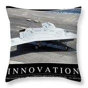 Innovation Inspirational Quote Throw Pillow