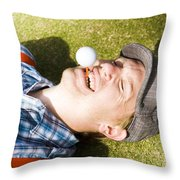 Insane Sport Nut Crazy About Golf Throw Pillow