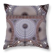 Inside The Azadi Mosque At Ashgabat In Turkmenistan Throw Pillow