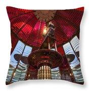 Interior Of Fresnel Lens In Umpqua Lighthouse Throw Pillow
