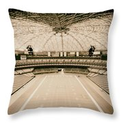 Interior Of The Old Astrodome Throw Pillow