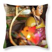Interiors Of Vihn Trang Pagoda, My Tho Throw Pillow